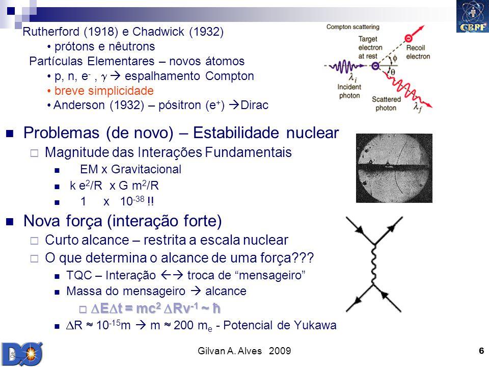 Problemas (de novo) – Estabilidade nuclear
