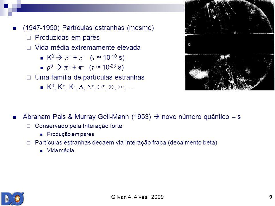 (1947-1950) Partículas estranhas (mesmo) Produzidas em pares