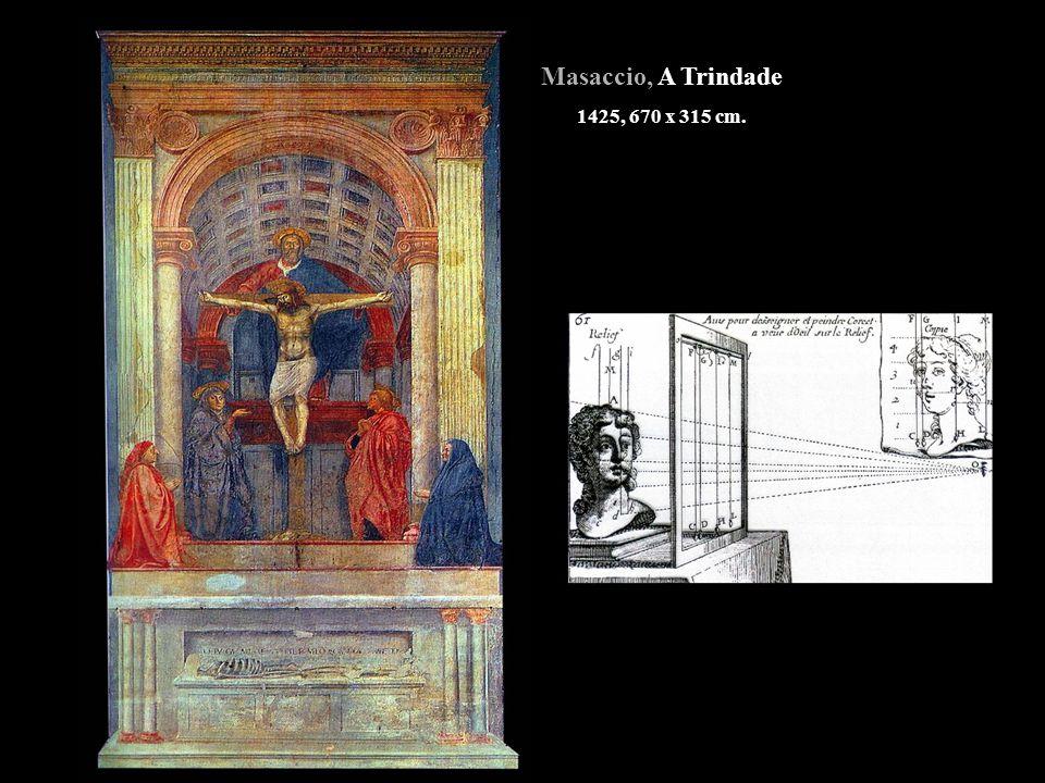 Masaccio, A Trindade 1425, 670 x 315 cm.