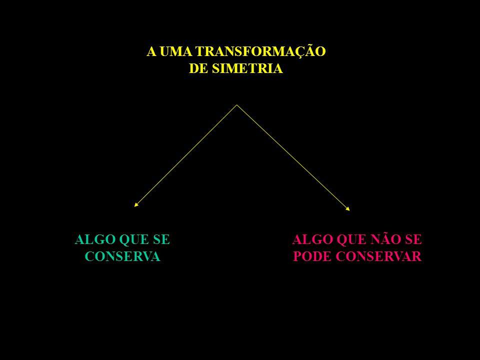 A UMA TRANSFORMAÇÃO DE SIMETRIA ALGO QUE NÃO SE PODE CONSERVAR