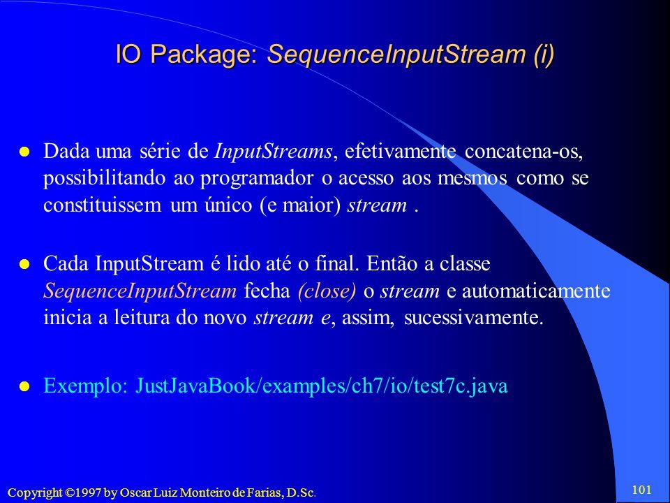 IO Package: SequenceInputStream (i)