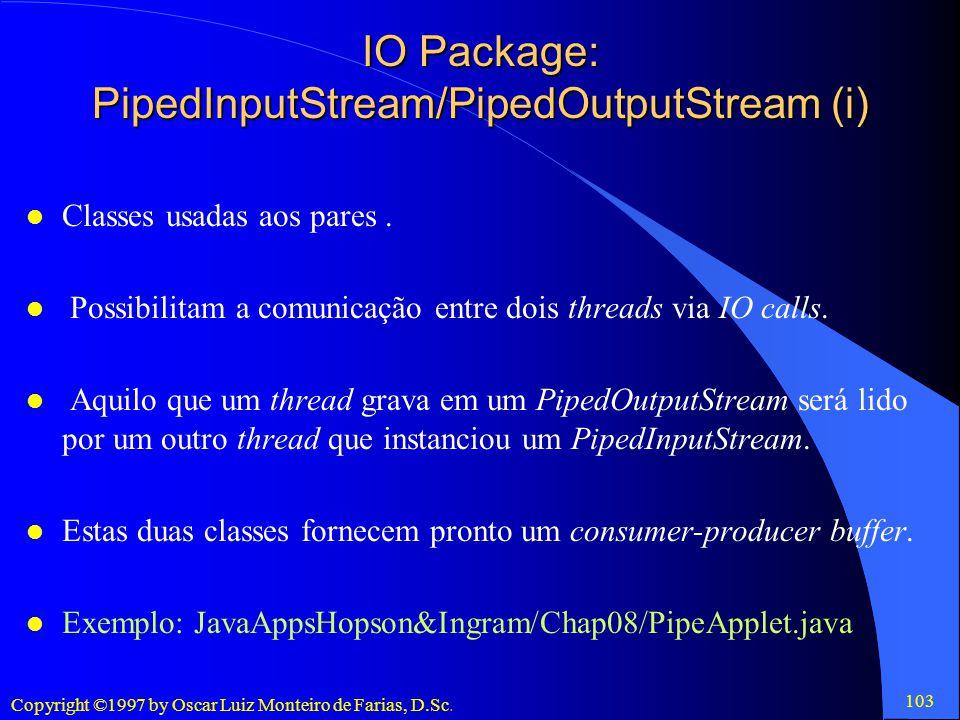 IO Package: PipedInputStream/PipedOutputStream (i)
