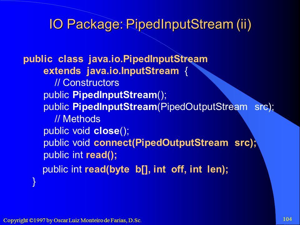 IO Package: PipedInputStream (ii)