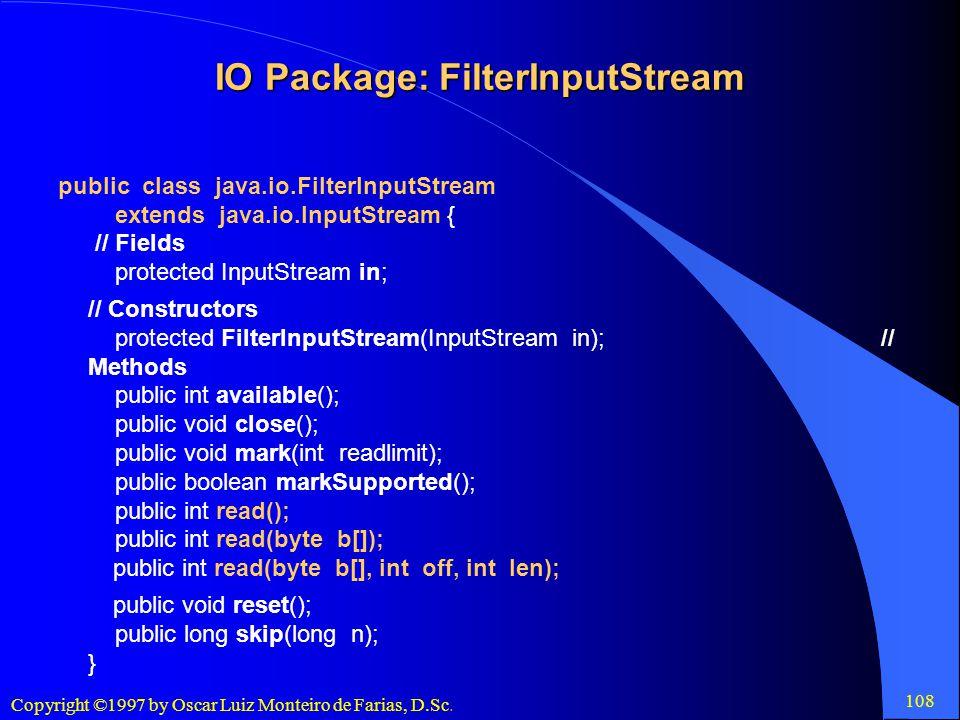 IO Package: FilterInputStream