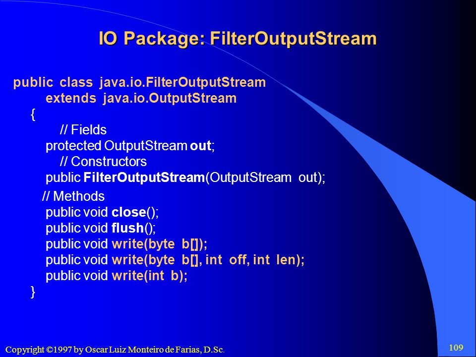 IO Package: FilterOutputStream