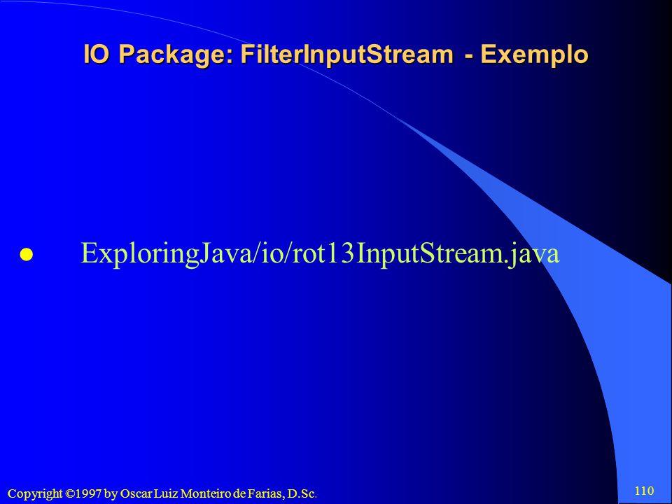 IO Package: FilterInputStream - Exemplo
