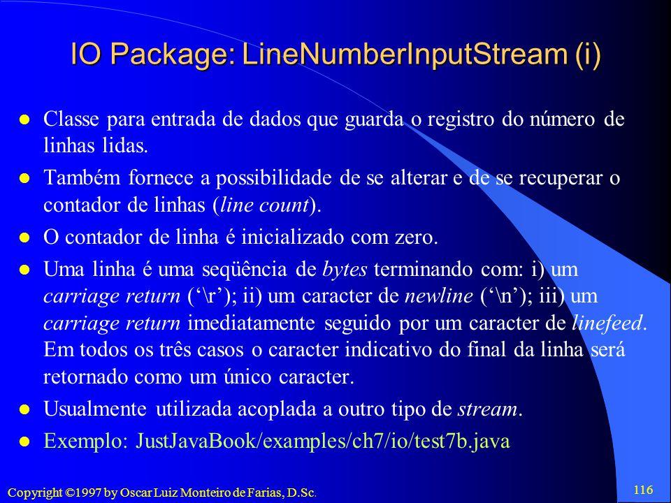 IO Package: LineNumberInputStream (i)