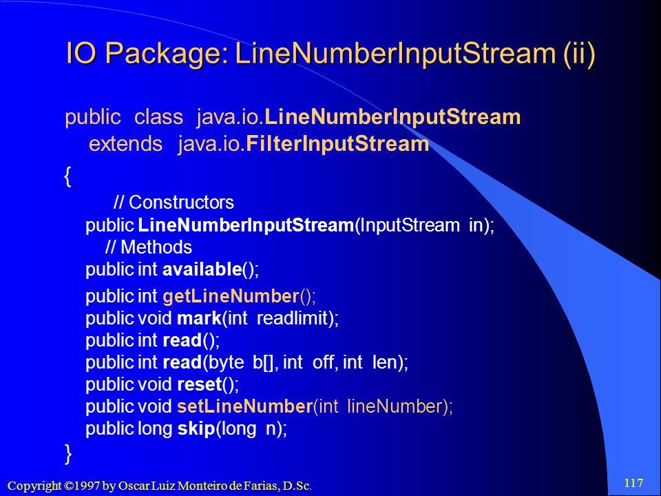 IO Package: LineNumberInputStream (ii)