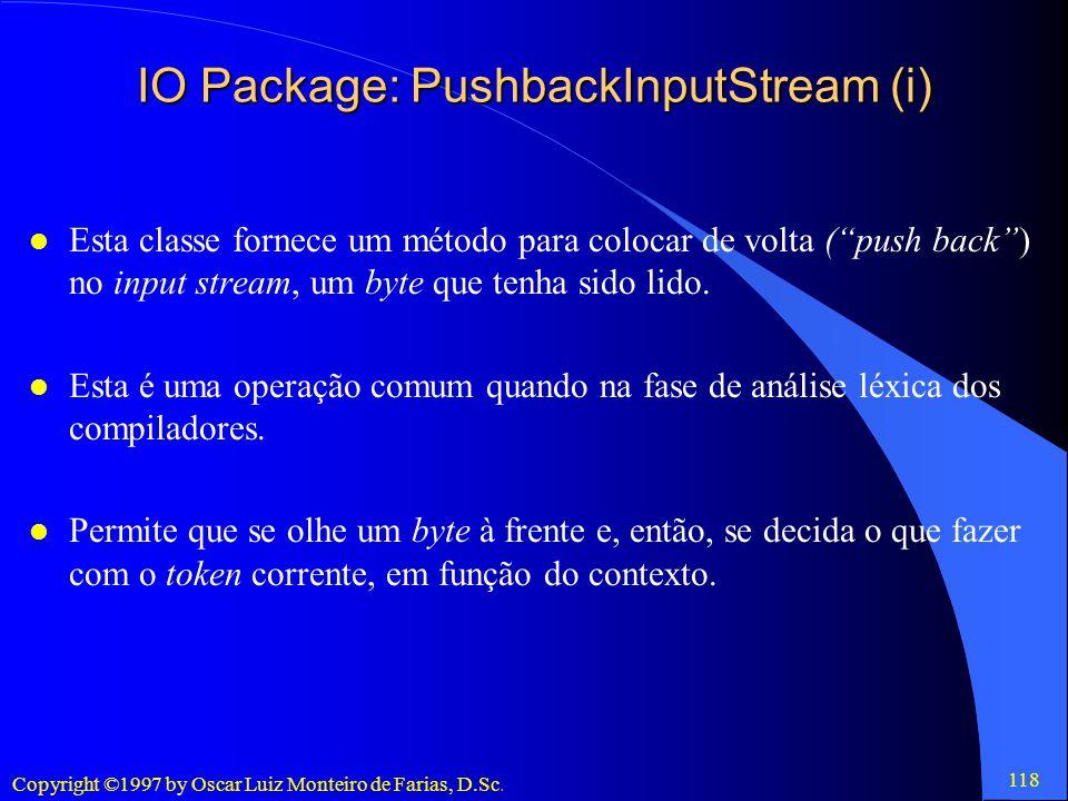 IO Package: PushbackInputStream (i)