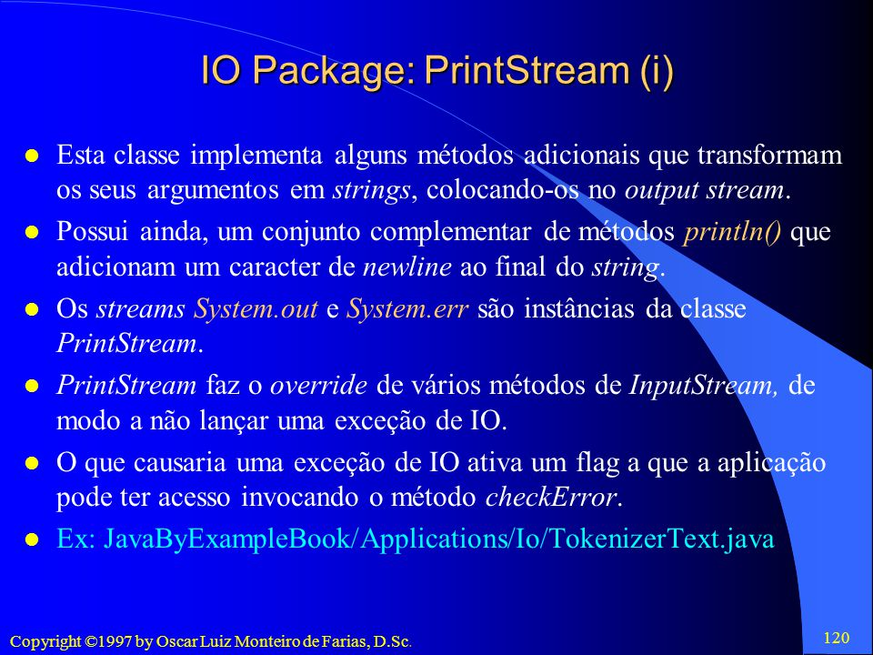 IO Package: PrintStream (i)