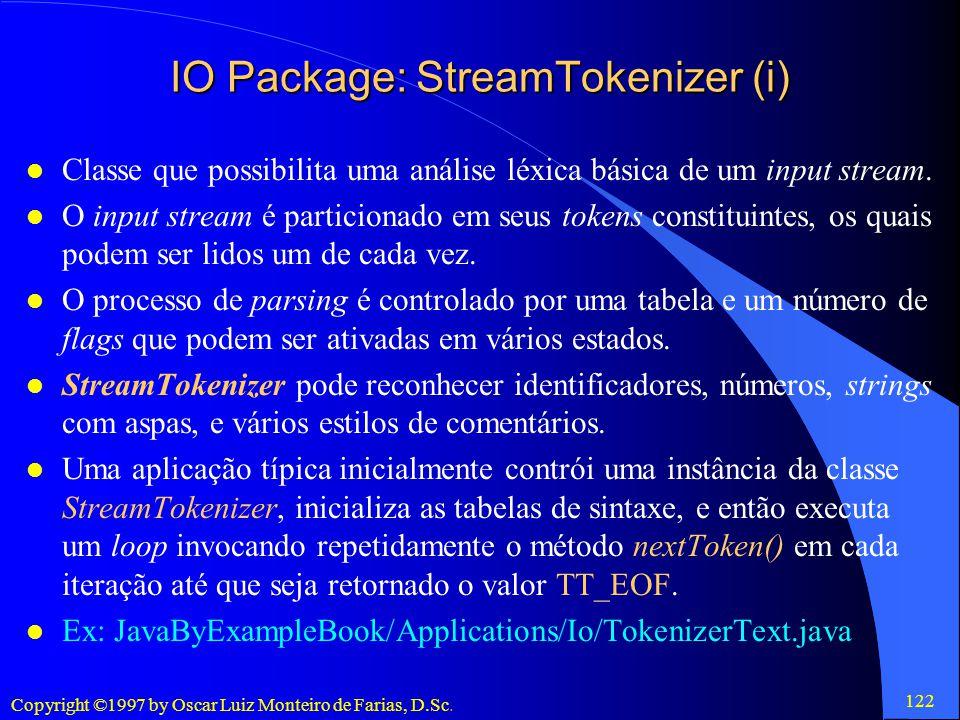 IO Package: StreamTokenizer (i)