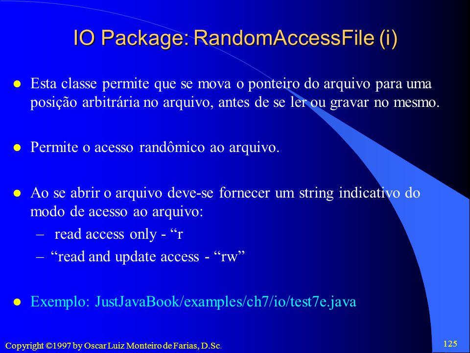 IO Package: RandomAccessFile (i)
