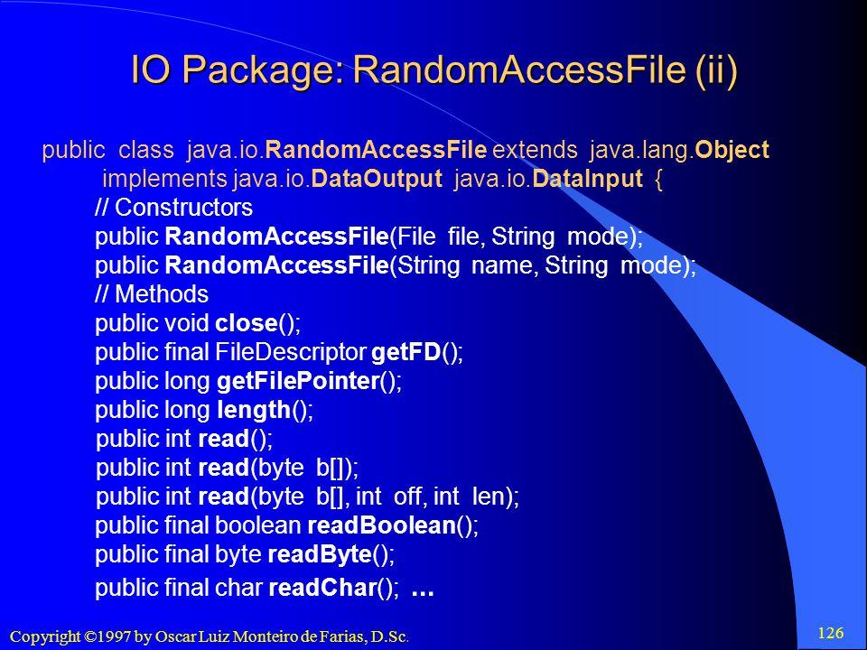 IO Package: RandomAccessFile (ii)