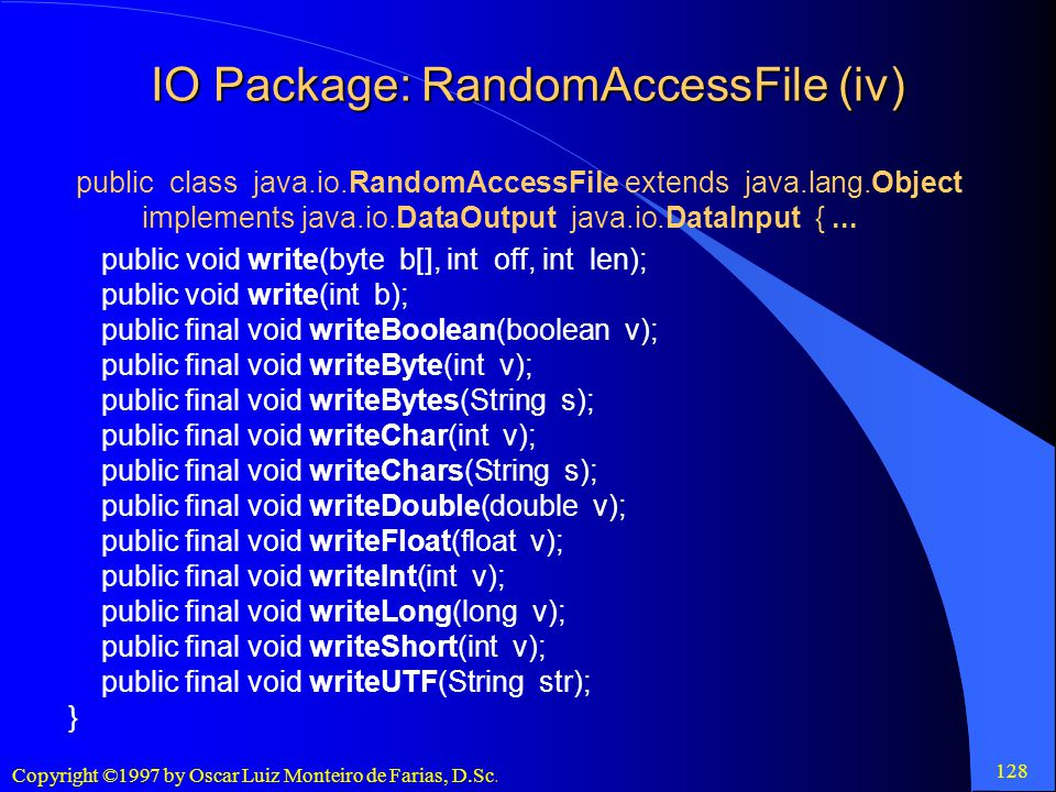 IO Package: RandomAccessFile (iv)