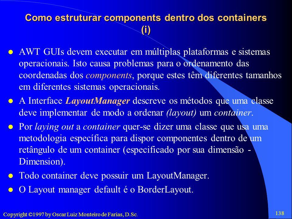 Como estruturar components dentro dos containers (i)