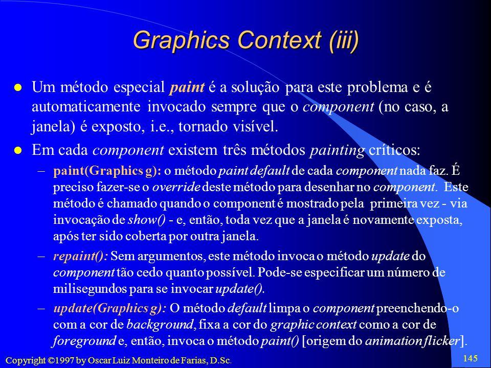 Graphics Context (iii)