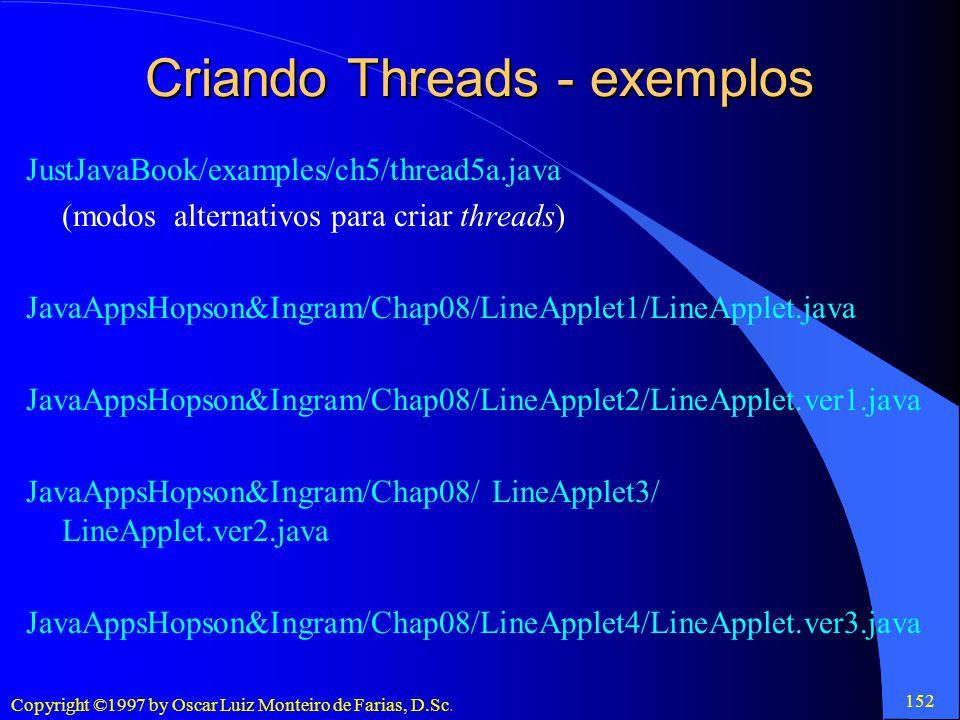 Criando Threads - exemplos
