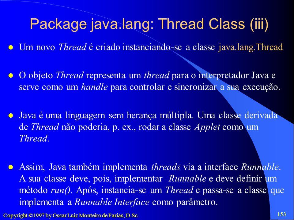 Package java.lang: Thread Class (iii)