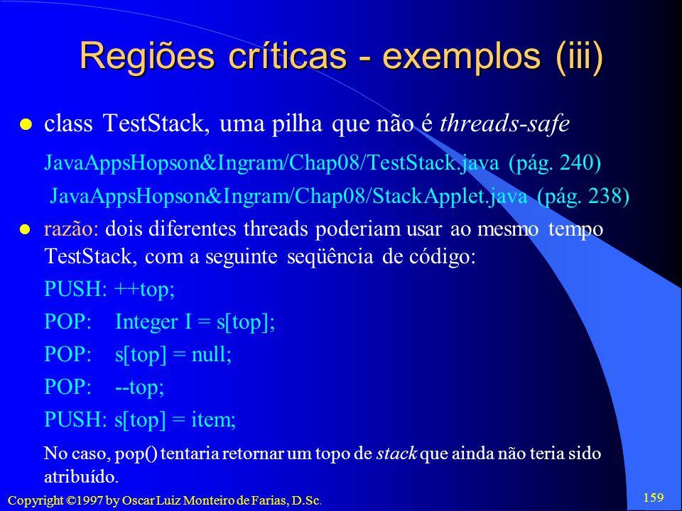 Regiões críticas - exemplos (iii)