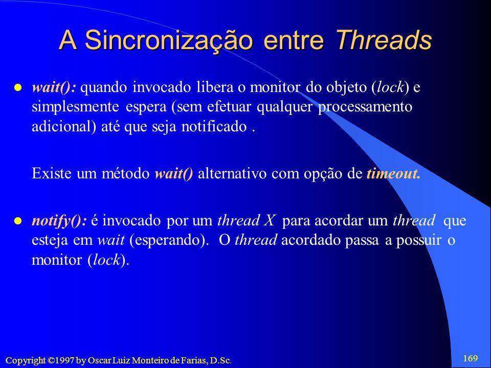 A Sincronização entre Threads