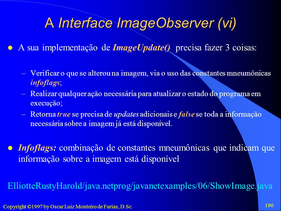 A Interface ImageObserver (vi)