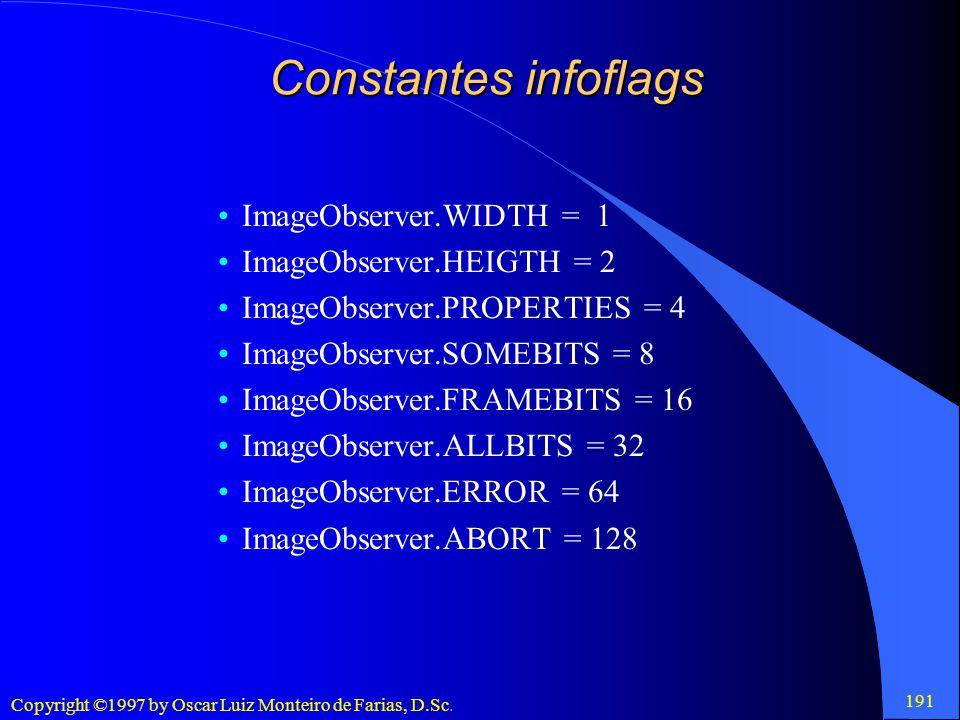 Constantes infoflags ImageObserver.WIDTH = 1 ImageObserver.HEIGTH = 2