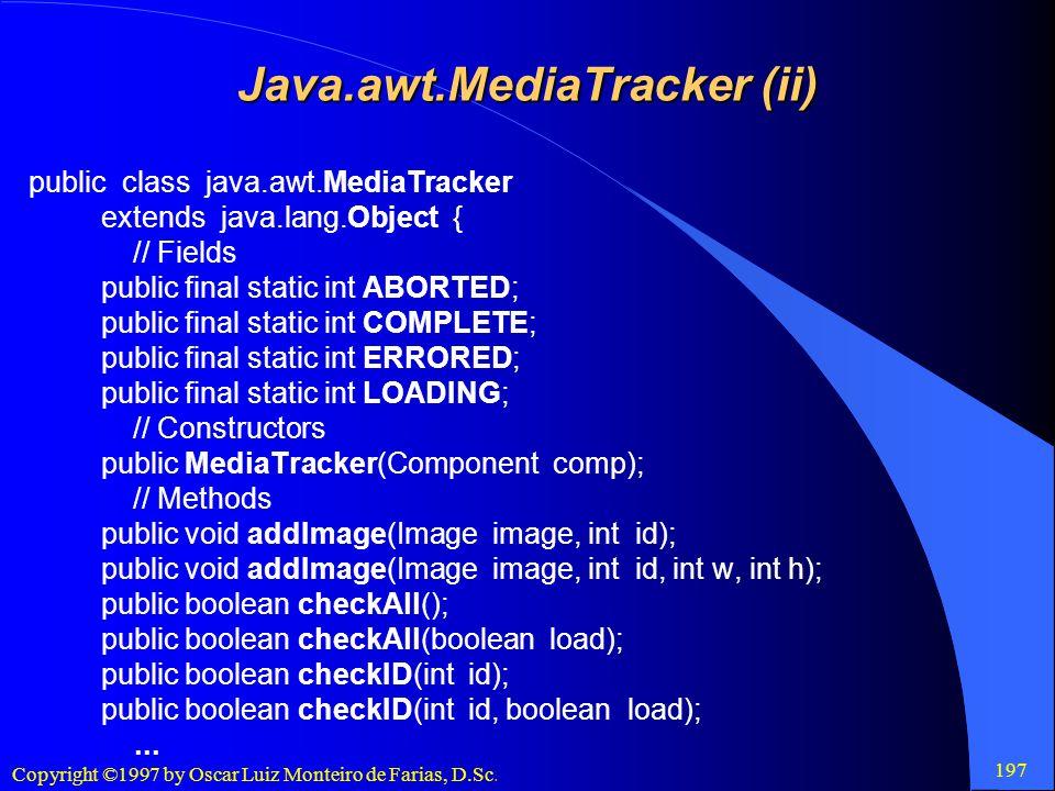 Java.awt.MediaTracker (ii)