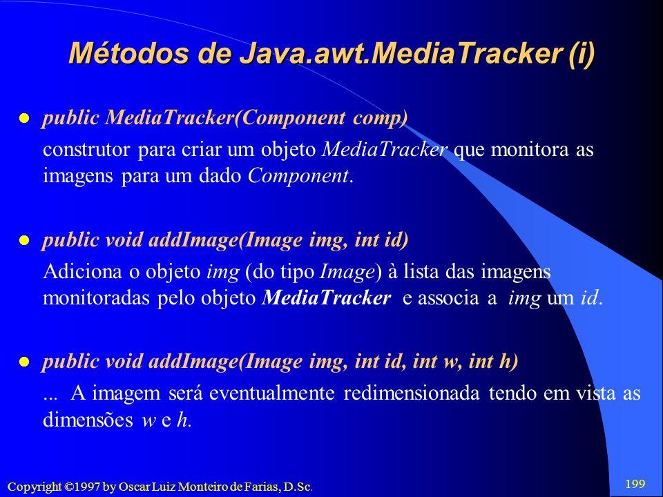 Métodos de Java.awt.MediaTracker (i)