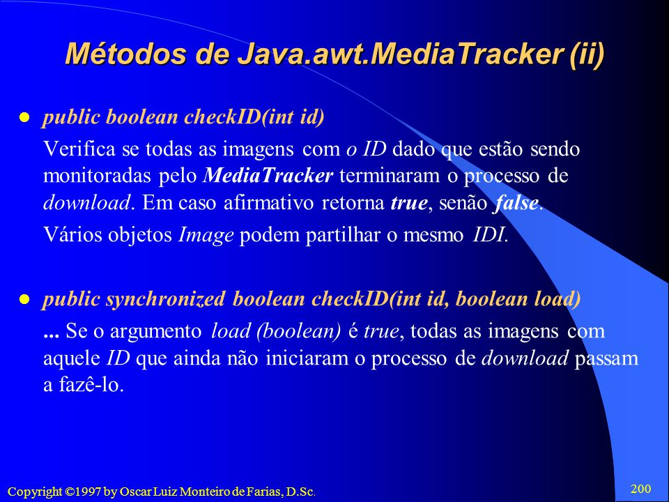 Métodos de Java.awt.MediaTracker (ii)