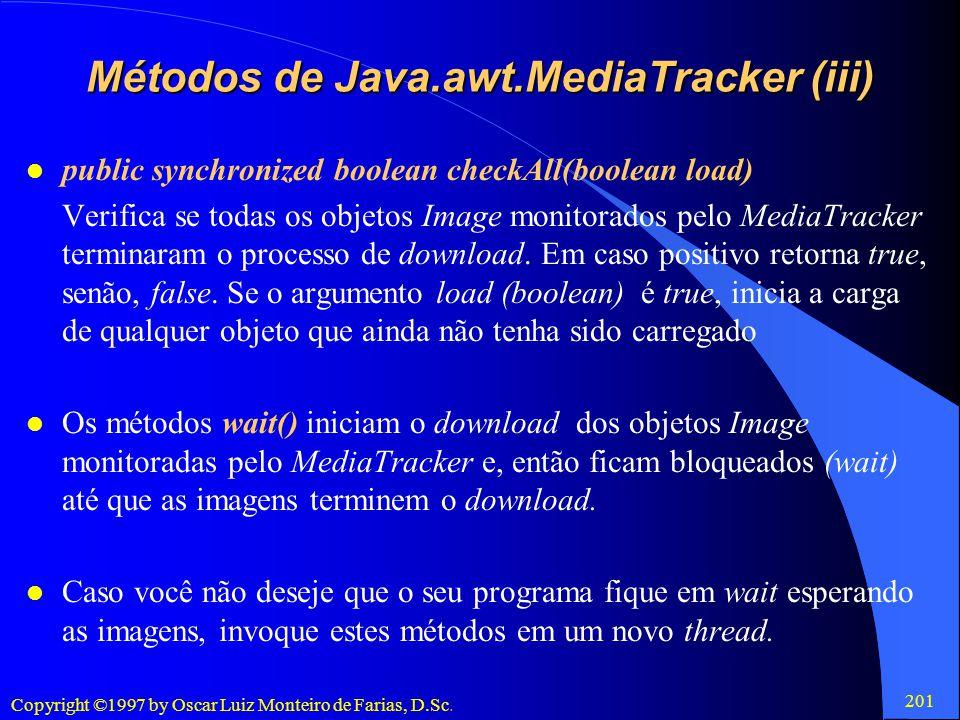 Métodos de Java.awt.MediaTracker (iii)