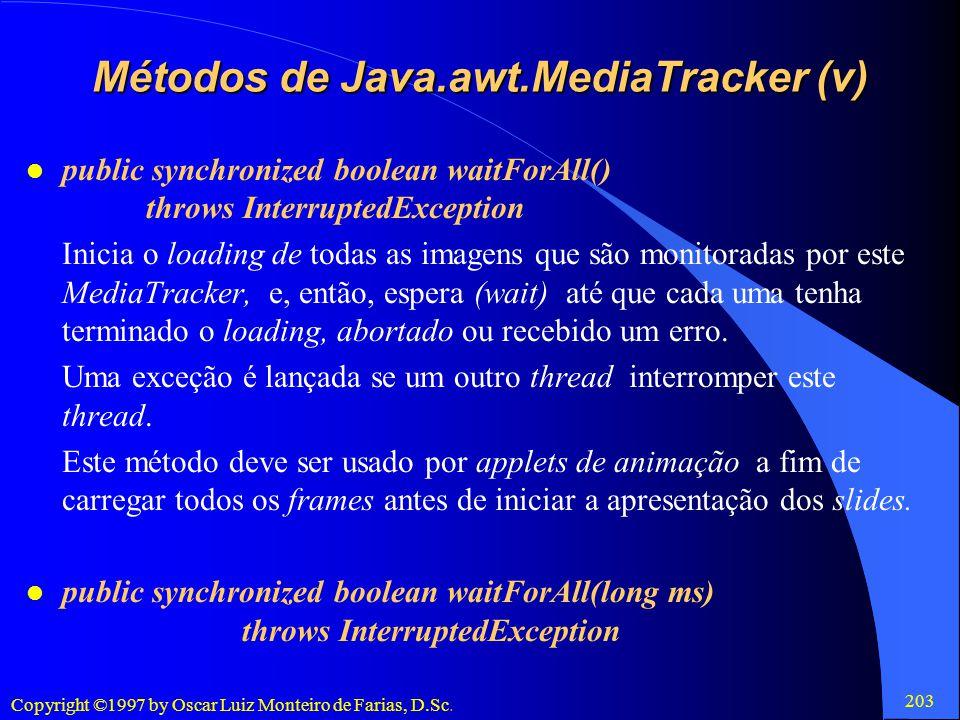 Métodos de Java.awt.MediaTracker (v)