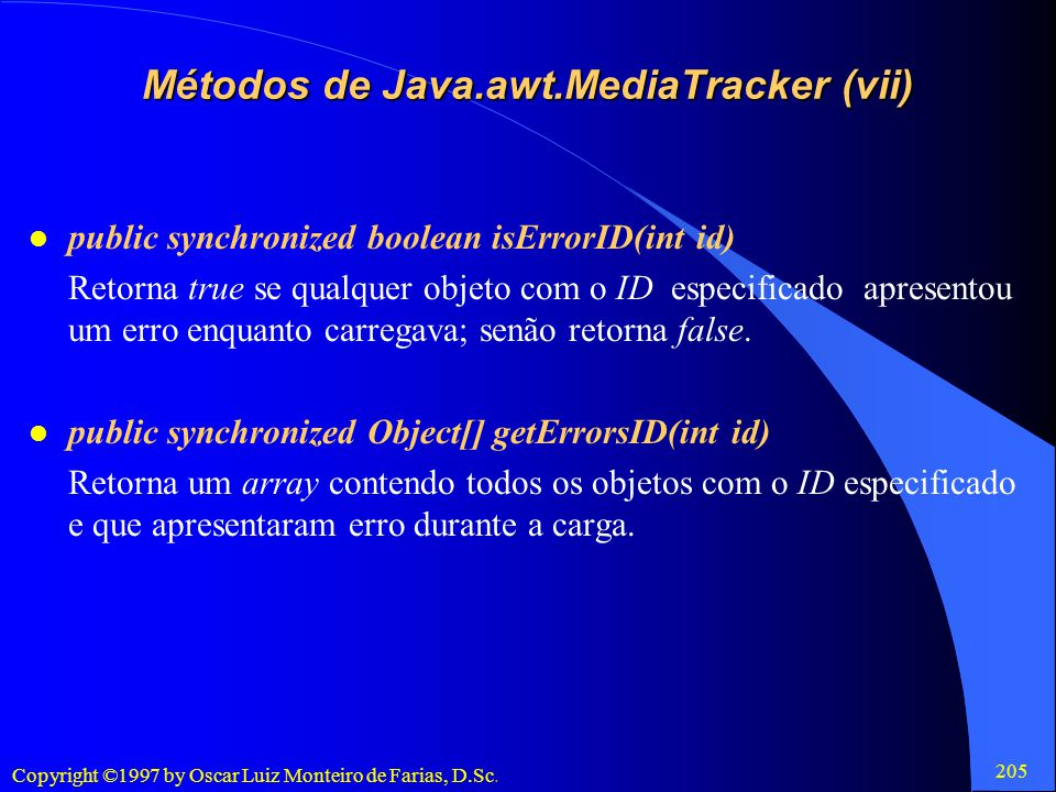 Métodos de Java.awt.MediaTracker (vii)