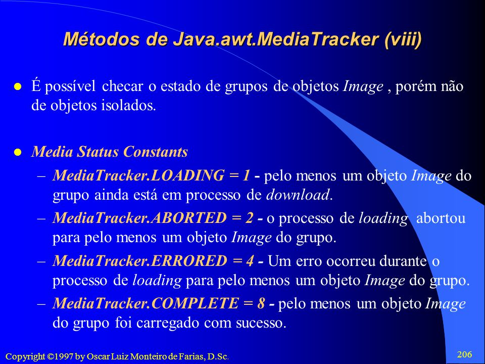 Métodos de Java.awt.MediaTracker (viii)