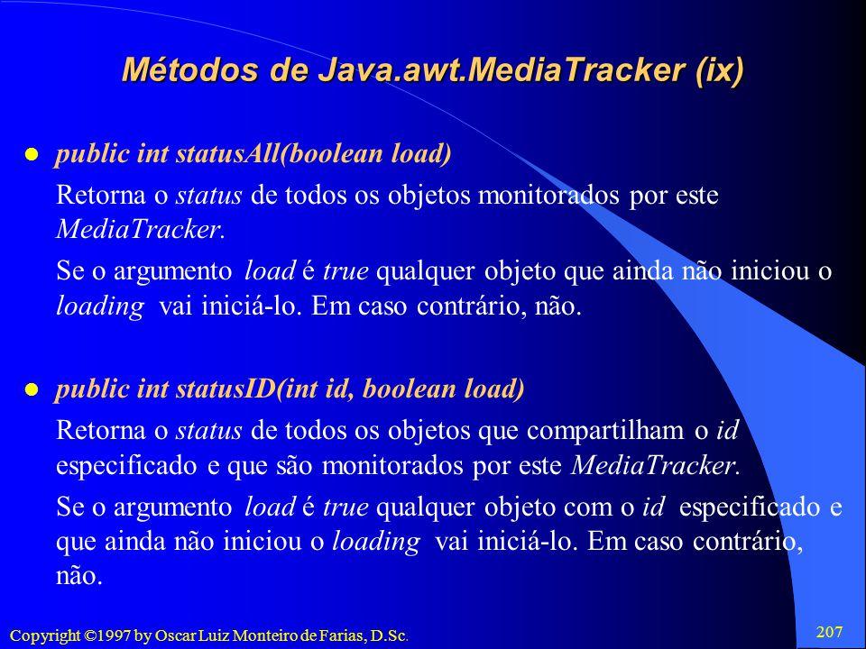 Métodos de Java.awt.MediaTracker (ix)