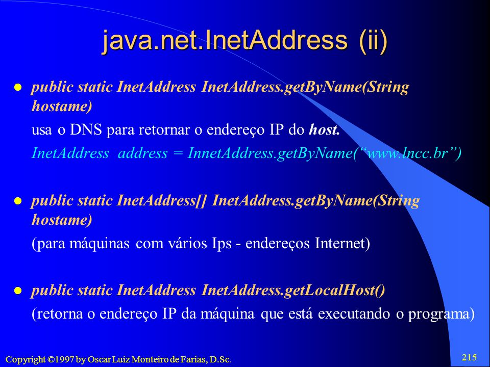 java.net.InetAddress (ii)