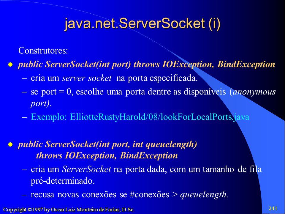 java.net.ServerSocket (i)