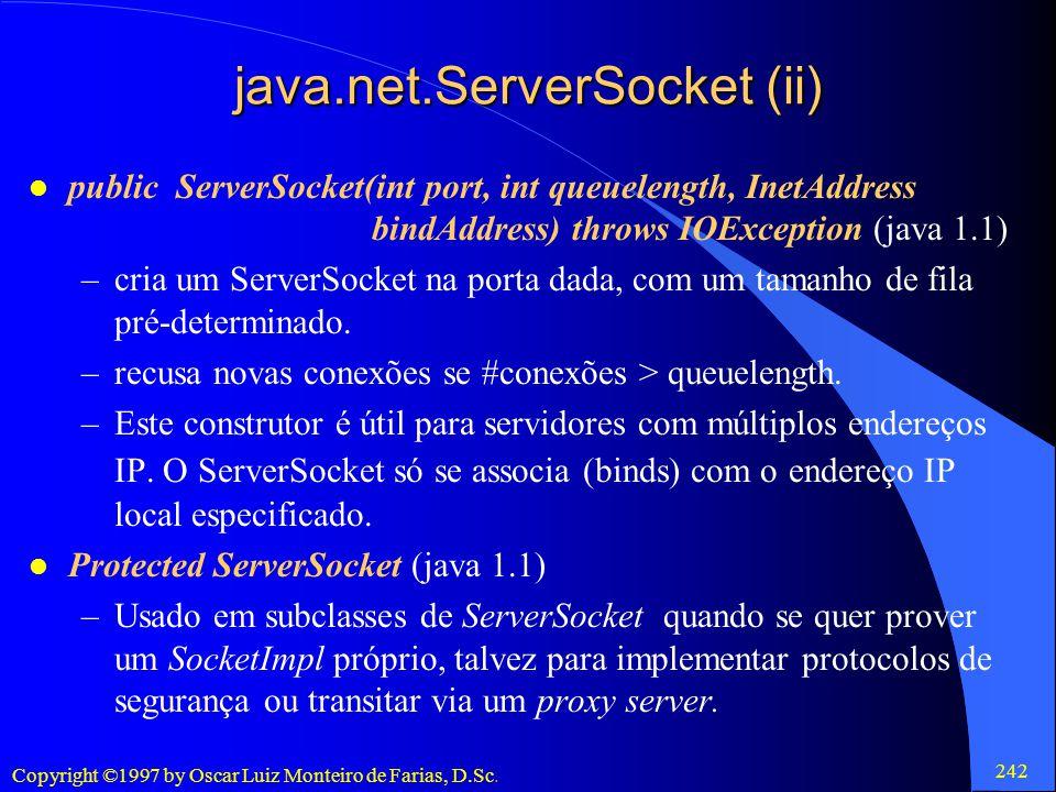 java.net.ServerSocket (ii)