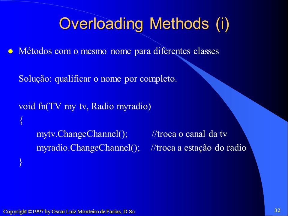 Overloading Methods (i)