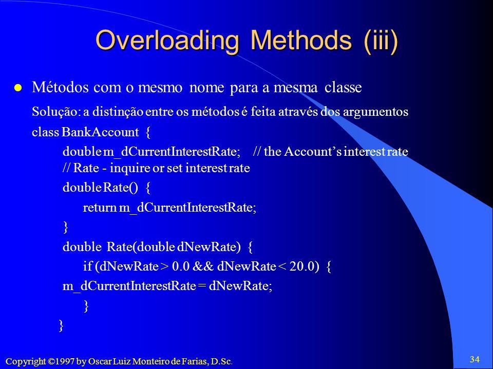 Overloading Methods (iii)