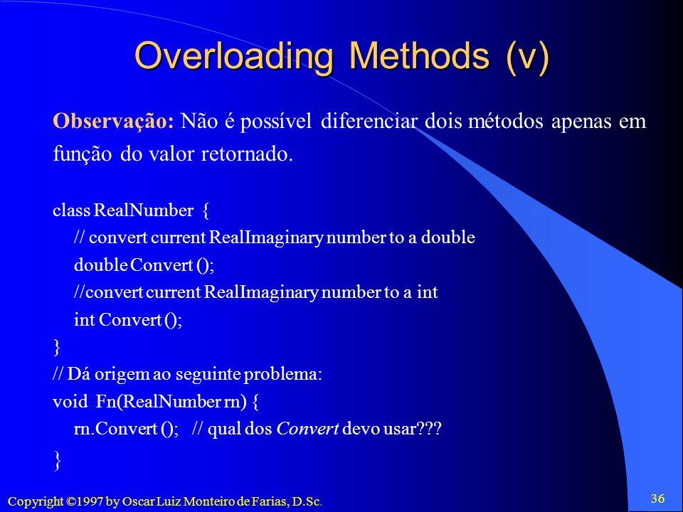 Overloading Methods (v)