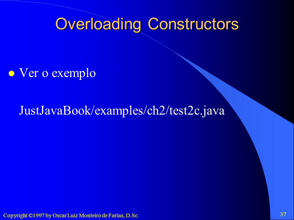 Overloading Constructors