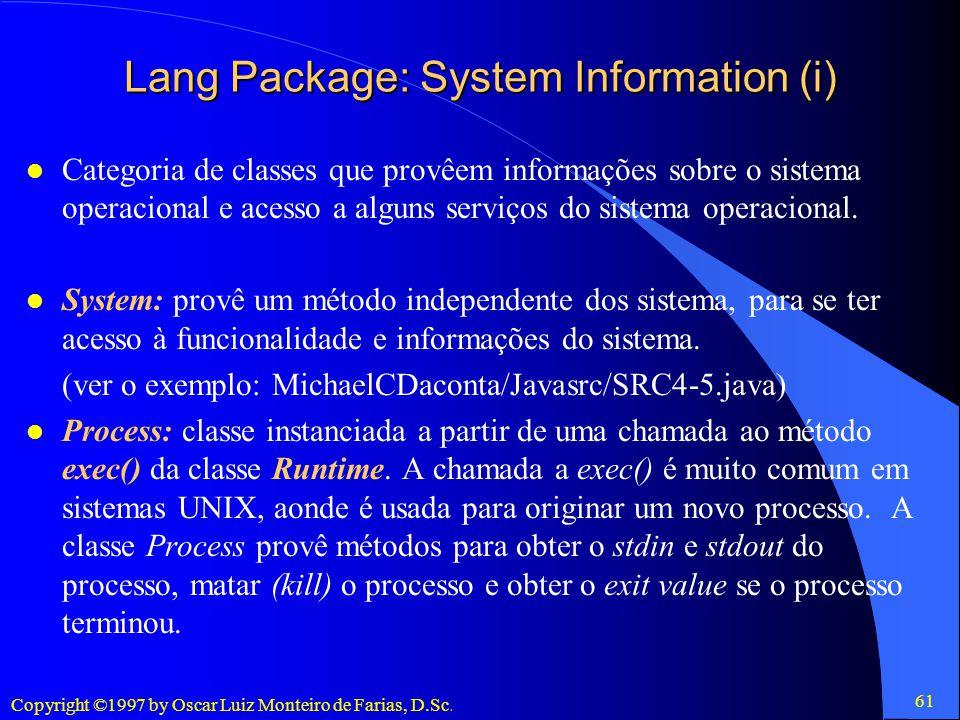 Lang Package: System Information (i)