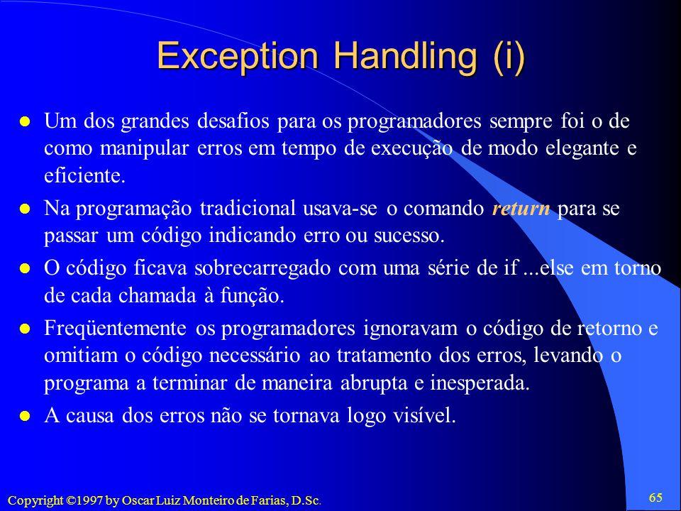 Exception Handling (i)