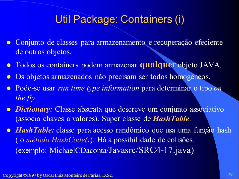 Util Package: Containers (i)