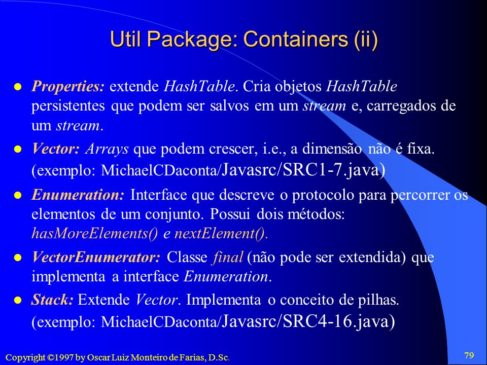 Util Package: Containers (ii)