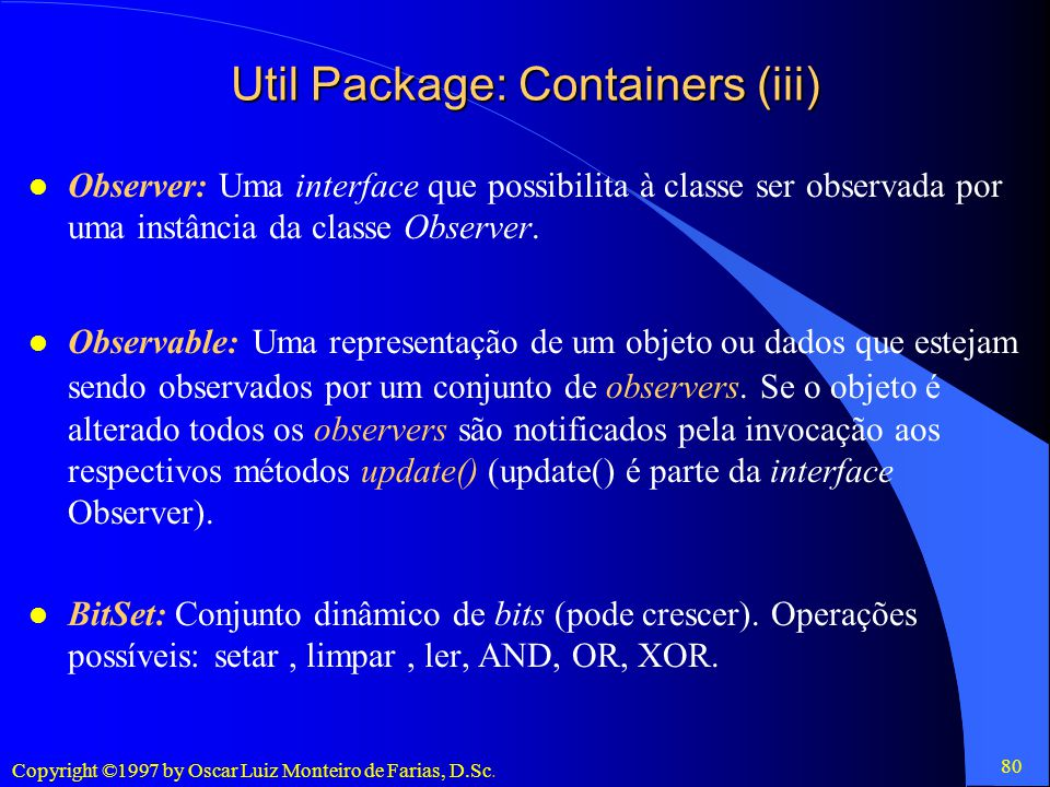 Util Package: Containers (iii)