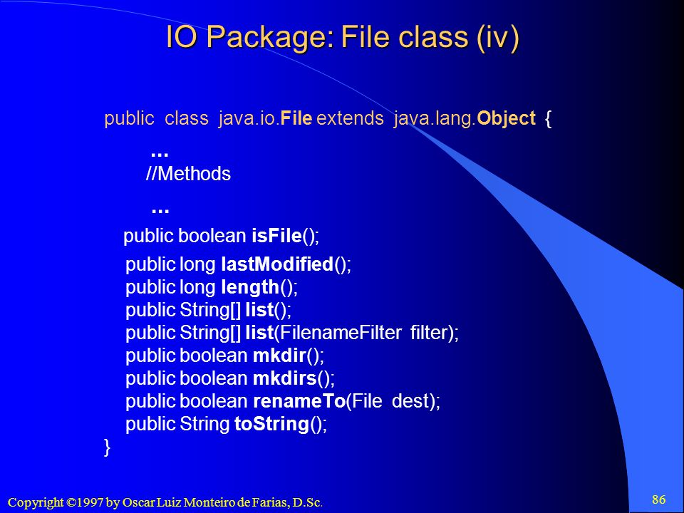 IO Package: File class (iv)