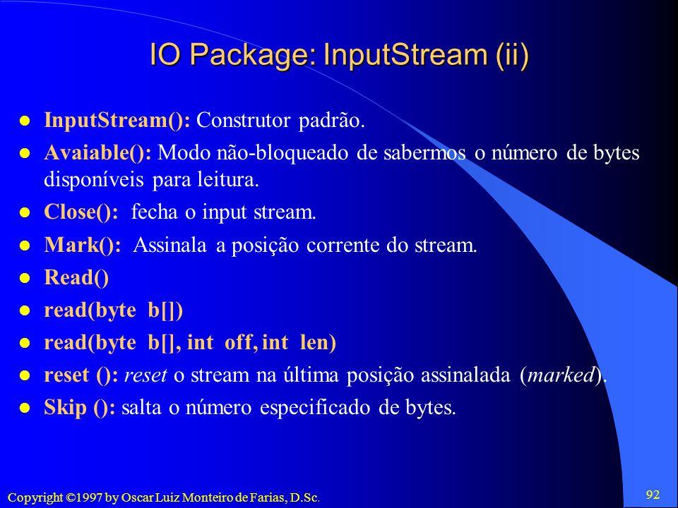 IO Package: InputStream (ii)