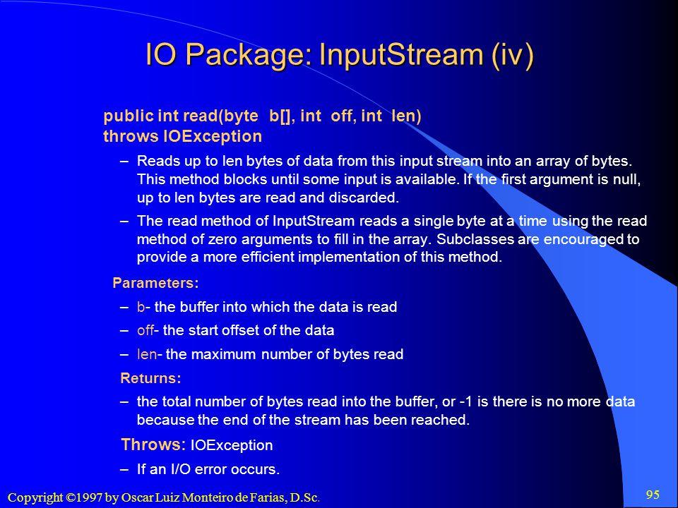 IO Package: InputStream (iv)