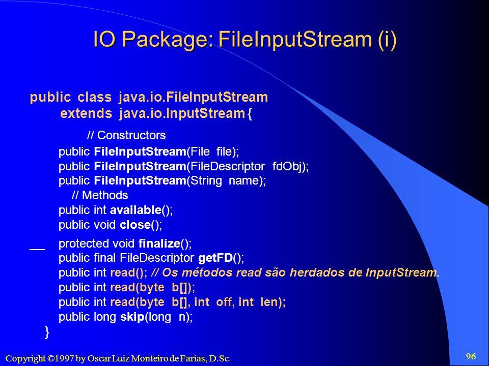 IO Package: FileInputStream (i)